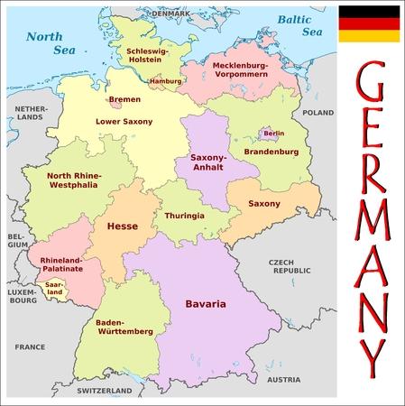 administrativo: Divisiones administrativas Alemania