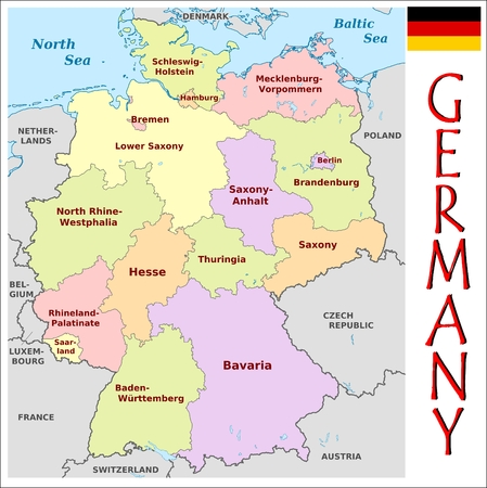 administrative divisions: Germany administrative divisions Illustration