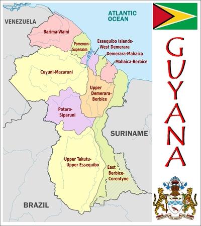administrative divisions: Guyana administrative divisions Illustration