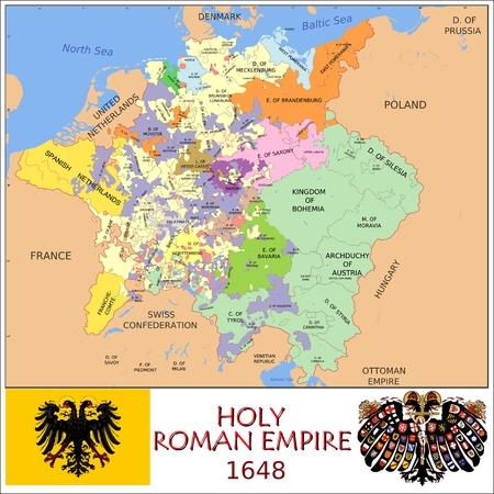 Heilige Roomse Rijk administratieve afdelingen Stockfoto - 38368964