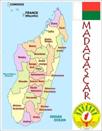 administrative: Madagascar administrative divisions