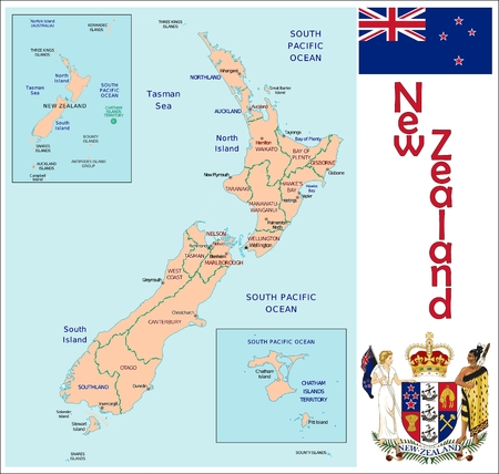 administrative divisions: New Zealand administrative divisions