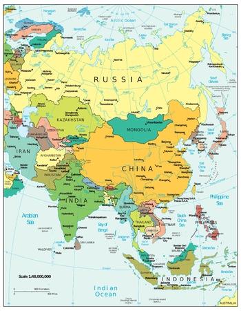 europe: Asia political