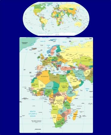 World Europe Africa political