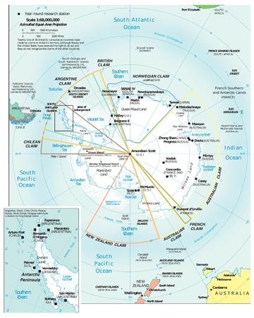 Antarctic Region politieke Stockfoto - 45207302