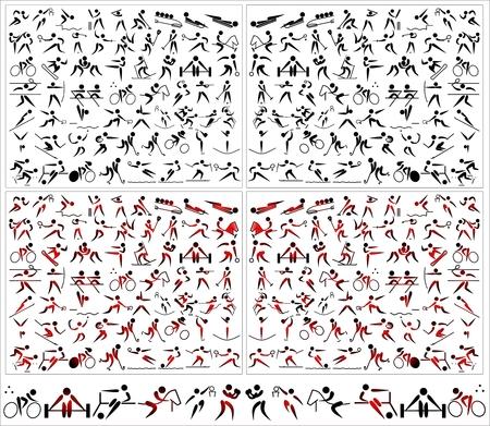 Pictogram sports icons symbols action Stock Illustratie