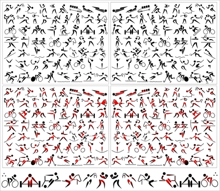 Pictogram sports icons symbols action Vettoriali