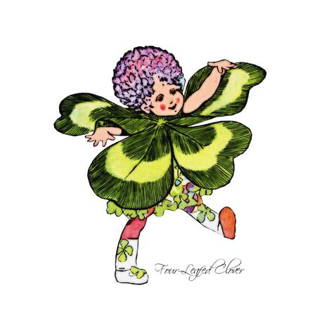 Four-Leafed Clover Illustration