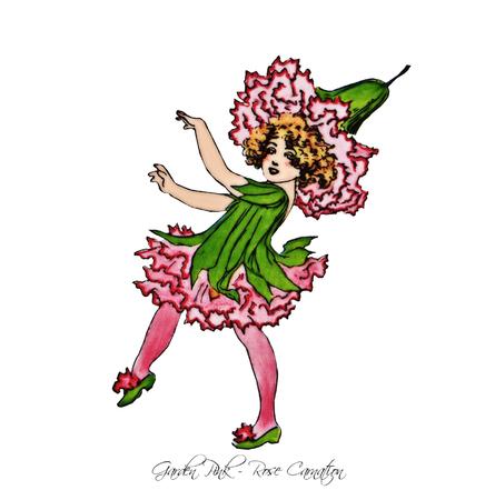 Garden Pink - Rose Carnation Flower Children