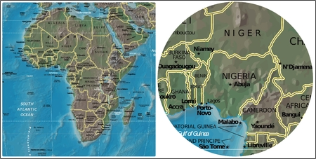 Nigeria and Africa map