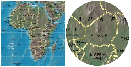 Niger and Africa maps