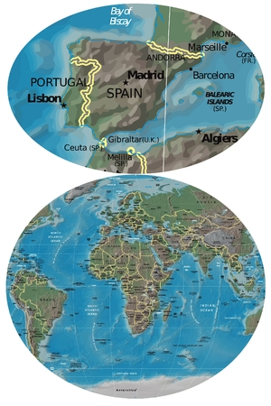 Spain and Europe map