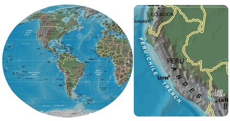 Peru and The Americas map