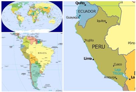Peru en Zuid-Amerika Stockfoto