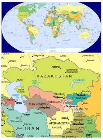 Centraal-Azië en Wereld