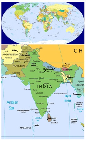 South Asia India Pakistan and World