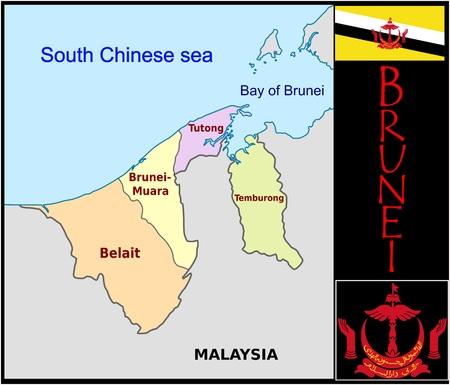 Brunei administratieve afdelingen