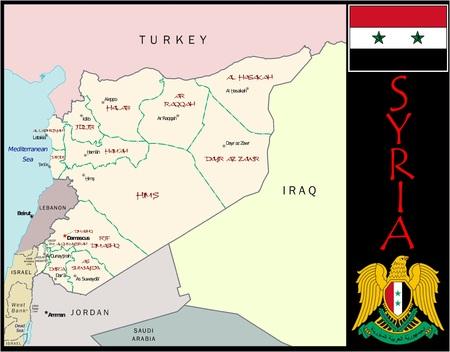 Syrië administratieve afdelingen