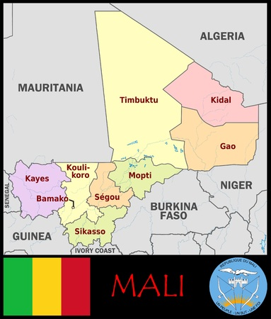 Mali administratieve afdelingen