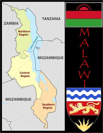 Malawi administratieve afdelingen