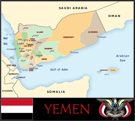 Jemen administratieve afdelingen