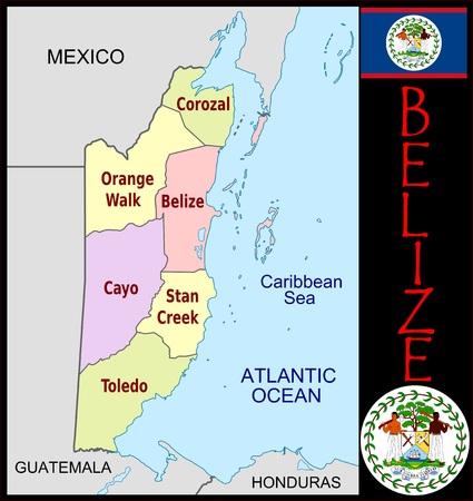 Belize administratieve afdelingen