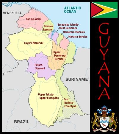 Guyana administrative divisions Zdjęcie Seryjne