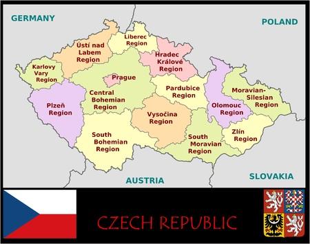 Tsjechische Republiek administratieve afdelingen