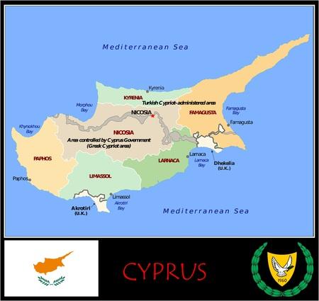 Cyprus administrative divisions Zdjęcie Seryjne