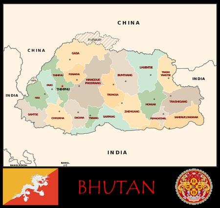 Bhutan administratieve afdelingen