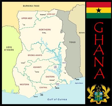 Ghana administratieve afdelingen