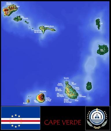 Administratieve afdelingen van Kaapverdië Stockfoto - 74032564