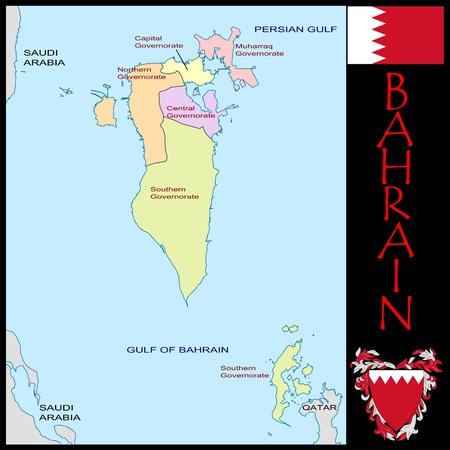 Bahrain administrative divisions Zdjęcie Seryjne