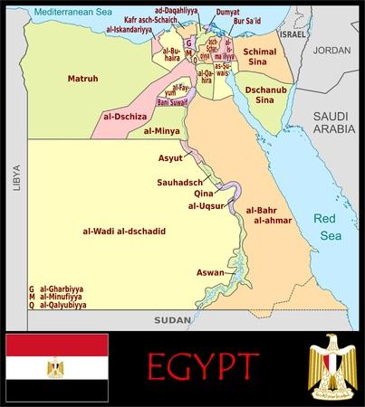 Egypte administratieve afdelingen