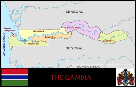 Gambia administratieve afdelingen