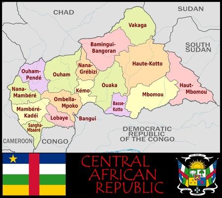 Centraal-Afrika Rep administratieve afdelingen
