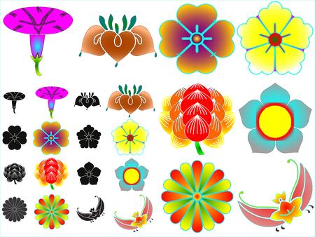 Traditional japanese family crests kamon emblems Stockfoto - 118682745