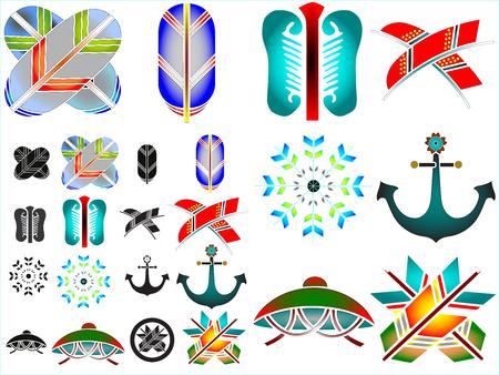 Traditional japanese family crests kamon emblems Stockfoto - 118565942