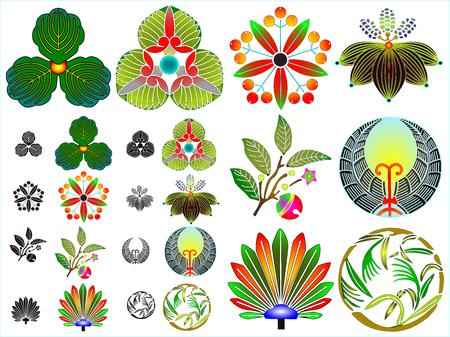 Traditional japanese family crests kamon emblems Stockfoto - 118565950