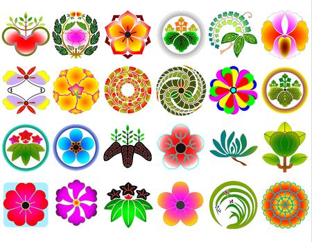 Traditional japanese family crests kamon emblems Stockfoto - 118565958