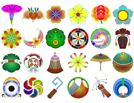 Traditional japanese family crests kamon emblems Stockfoto - 118565959