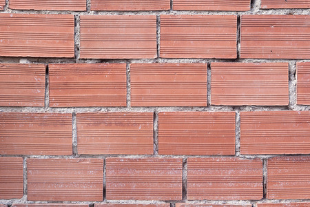 brick texture: Horizontal red brick texture