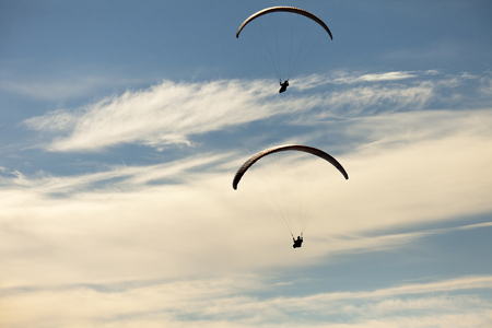 parapente: person practicing paragliding flying sport outdoor adventure