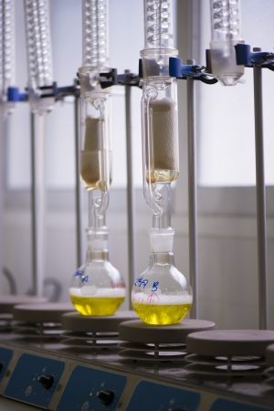 Test tubes in a laboratory Banco de Imagens