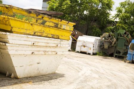 A skip on construction site Standard-Bild