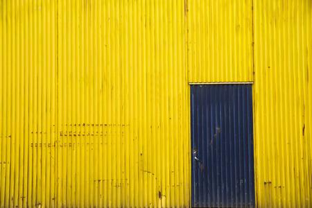 Shutter door, outside of factory.