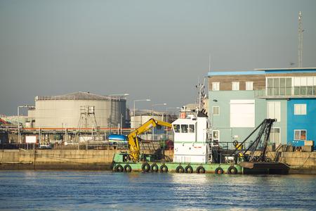 ing: Shipping port Stock Photo