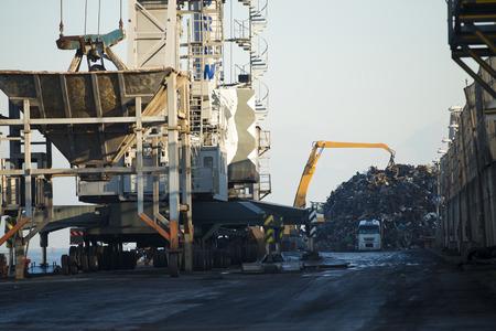 scrap iron: Scrap iron Stock Photo