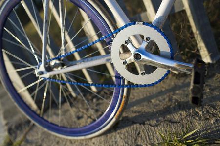 clavados: Detalles de bicicleta fija