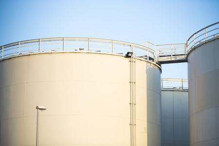 storage tanks: White storage tanks
